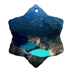 Kelimutu Crater Lakes  Indonesia Snowflake Ornament (two Sides)
