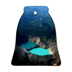 Kelimutu Crater Lakes  Indonesia Bell Ornament (two Sides)