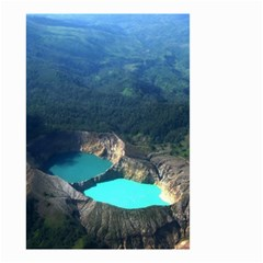 Kelimutu Crater Lakes  Indonesia Small Garden Flag (two Sides)
