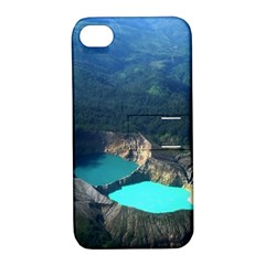 Kelimutu Crater Lakes  Indonesia Apple Iphone 4/4s Hardshell Case With Stand