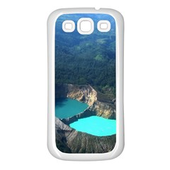 Kelimutu Crater Lakes  Indonesia Samsung Galaxy S3 Back Case (white)