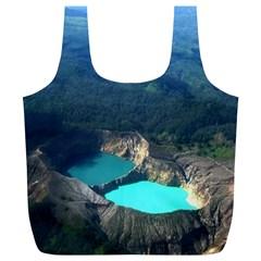 Kelimutu Crater Lakes  Indonesia Full Print Recycle Bags (l)