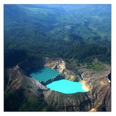 Kelimutu Crater Lakes  Indonesia Large Satin Scarf (square)