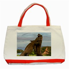 Komodo Dragons Fight Classic Tote Bag (red)