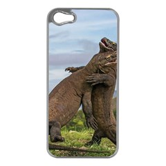 Komodo Dragons Fight Apple Iphone 5 Case (silver)