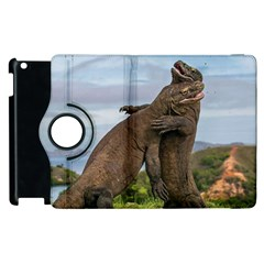 Komodo Dragons Fight Apple Ipad 2 Flip 360 Case