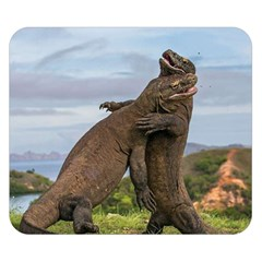 Komodo Dragons Fight Double Sided Flano Blanket (small)