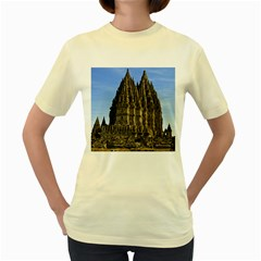 Prambanan Temple Women s Yellow T Shirt