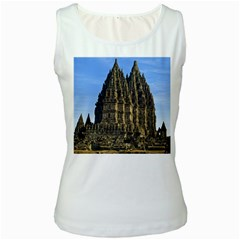 Prambanan Temple Women s White Tank Top