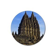 Prambanan Temple Rubber Coaster (round)