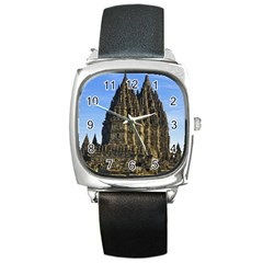 Prambanan Temple Square Metal Watch