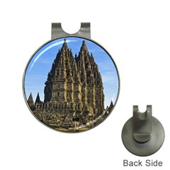 Prambanan Temple Hat Clips With Golf Markers
