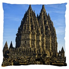 Prambanan Temple Large Flano Cushion Case (one Side)