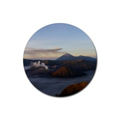 Sunrise Mount Bromo Tengger Semeru National Park  Indonesia Rubber Coaster (round)