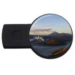 Sunrise Mount Bromo Tengger Semeru National Park  Indonesia Usb Flash Drive Round (4 Gb)