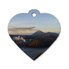 Sunrise Mount Bromo Tengger Semeru National Park  Indonesia Dog Tag Heart (one Side)