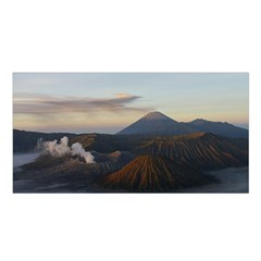 Sunrise Mount Bromo Tengger Semeru National Park  Indonesia Satin Shawl