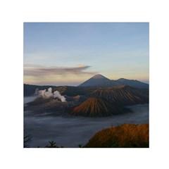 Sunrise Mount Bromo Tengger Semeru National Park  Indonesia Small Satin Scarf (square)