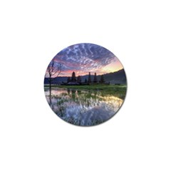 Tamblingan Morning Reflection Tamblingan Lake Bali  Indonesia Golf Ball Marker (4 Pack)