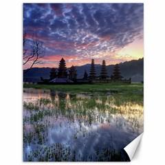 Tamblingan Morning Reflection Tamblingan Lake Bali  Indonesia Canvas 36  X 48