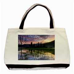 Tamblingan Morning Reflection Tamblingan Lake Bali  Indonesia Basic Tote Bag (two Sides)