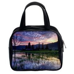 Tamblingan Morning Reflection Tamblingan Lake Bali  Indonesia Classic Handbags (2 Sides)