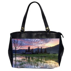 Tamblingan Morning Reflection Tamblingan Lake Bali  Indonesia Office Handbags (2 Sides)