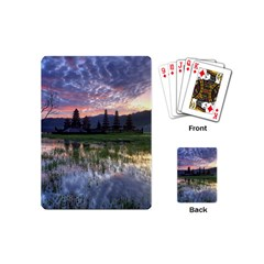Tamblingan Morning Reflection Tamblingan Lake Bali  Indonesia Playing Cards (mini)