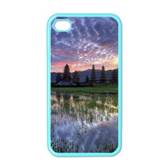 Tamblingan Morning Reflection Tamblingan Lake Bali  Indonesia Apple Iphone 4 Case (color)