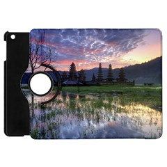 Tamblingan Morning Reflection Tamblingan Lake Bali  Indonesia Apple Ipad Mini Flip 360 Case