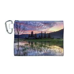 Tamblingan Morning Reflection Tamblingan Lake Bali  Indonesia Canvas Cosmetic Bag (m)