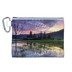 Tamblingan Morning Reflection Tamblingan Lake Bali  Indonesia Canvas Cosmetic Bag (l)