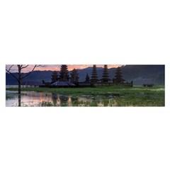 Tamblingan Morning Reflection Tamblingan Lake Bali  Indonesia Satin Scarf (oblong)