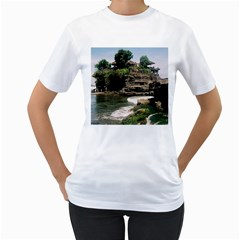 Tanah Lot Bali Indonesia Women s T Shirt (white) (two Sided)