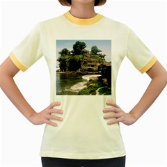 Tanah Lot Bali Indonesia Women s Fitted Ringer T Shirts