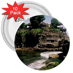 Tanah Lot Bali Indonesia 3  Buttons (10 Pack)