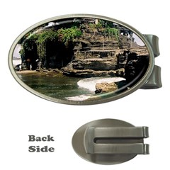 Tanah Lot Bali Indonesia Money Clips (oval)