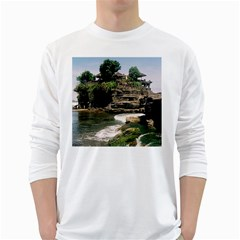 Tanah Lot Bali Indonesia White Long Sleeve T Shirts