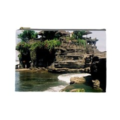 Tanah Lot Bali Indonesia Cosmetic Bag (large)