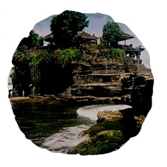 Tanah Lot Bali Indonesia Large 18  Premium Round Cushions