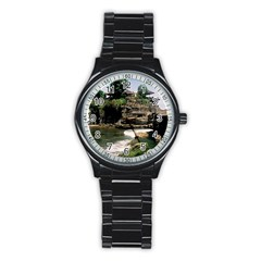 Tanah Lot Bali Indonesia Stainless Steel Round Watch