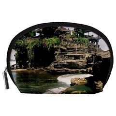 Tanah Lot Bali Indonesia Accessory Pouches (large)