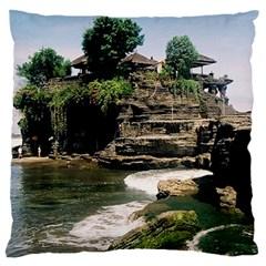 Tanah Lot Bali Indonesia Large Flano Cushion Case (one Side)