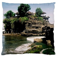 Tanah Lot Bali Indonesia Large Flano Cushion Case (two Sides)
