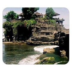 Tanah Lot Bali Indonesia Double Sided Flano Blanket (small)