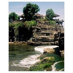Tanah Lot Bali Indonesia Drawstring Bag (small)