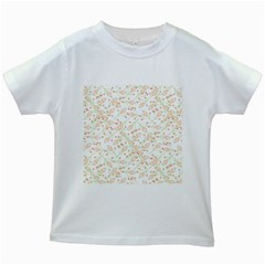 Small Floral Flowers Pattern  Kids White T Shirts