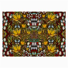 Fantasy Forest And Fantasy Plumeria In Peace Large Glasses Cloth (2 Side)