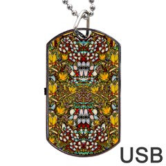 Fantasy Forest And Fantasy Plumeria In Peace Dog Tag Usb Flash (one Side)
