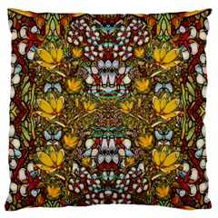 Fantasy Forest And Fantasy Plumeria In Peace Standard Flano Cushion Case (one Side)